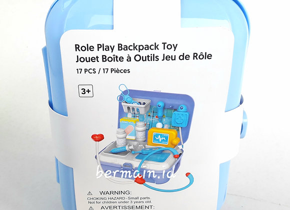 Role Play Backpack Toy Alat Doctor Set