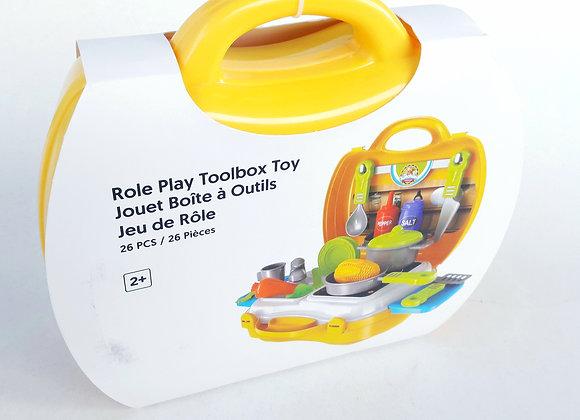 Role Play Toolbox Toy Kitchen Set alat Memasak