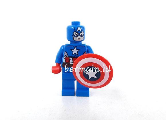 Lego Minifigure Captain America - Marvel The Avengers