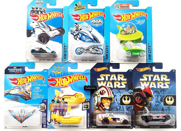 Hot Wheels Max Steel Milano Jetson Star Wars The Beatles Die cast