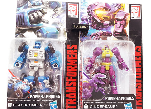 Transformers Power Of Prime Beachomber & Cindersaur Hasbro