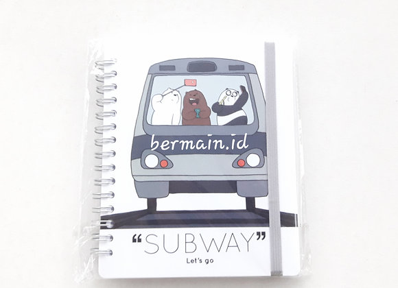 We Bare Bears Wirebound Book Subway Lets go