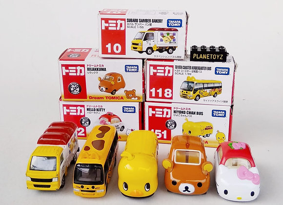 Tomica Hyoko Chan Bus, Hello Kitty, Toyota Coaster, Rilakuma