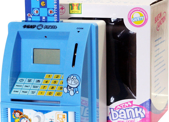 Celengan Mini ATM Doraemon Nobita Mainan Edukasi anak