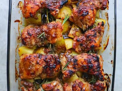 One-Pan Honey Balsamic Chicken & Potatoes