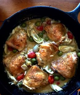 Mediterranean Chicken with Artichokes &