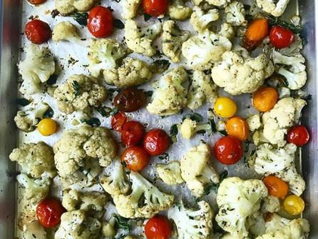 Mediterranean Roasted Cauliflower