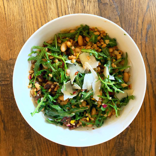 White Bean, Arugula & Farro Salad