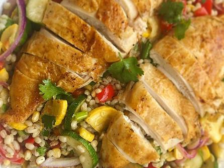 Dinner Tonight: Summer Bulgur Salad with Chicken
