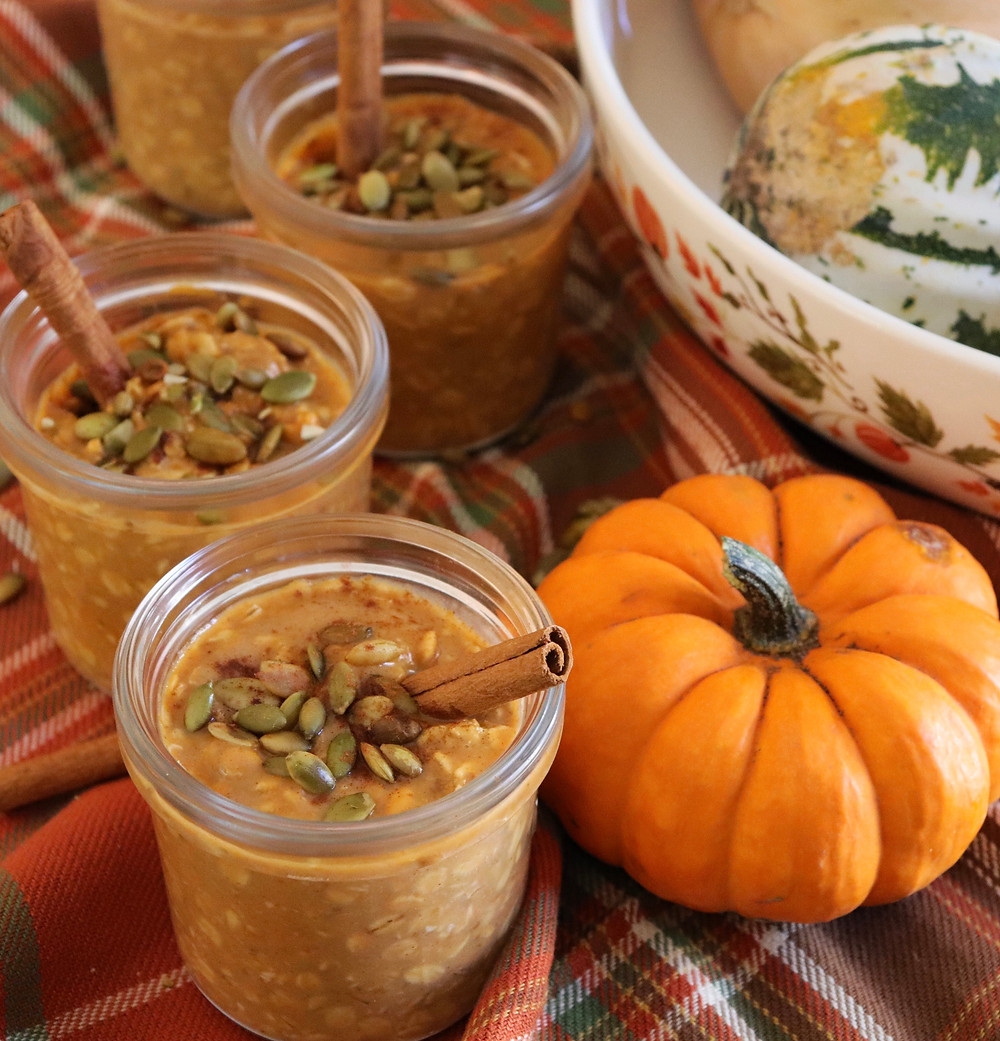 recipe for pumpkin pie overnight oats