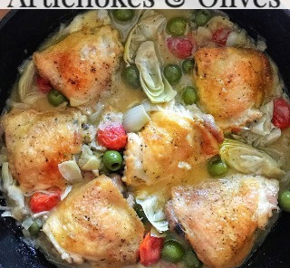 Recipe: Chicken with Artichokes and Olives