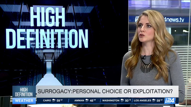 i24News, on commercial surrogacy in Israel, Mar. 2017