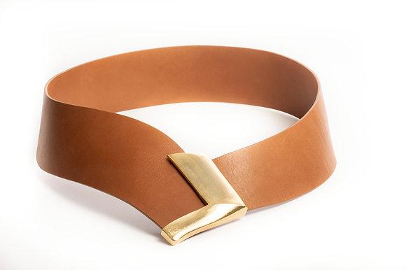 ARROW ceinture Camel - Gold