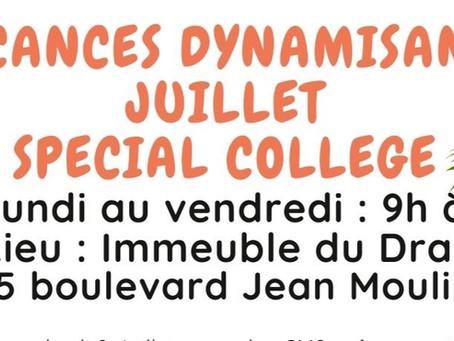 Les inscriptions pour les vacances dynamisantes Spécial Collège sont lancées !