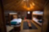 Mongolian Jurt, stay the night here after paddling Hardangerfjord kayakrental