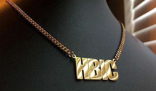 Block Nameplate Necklace