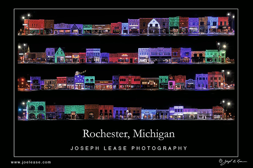 Rochester Holiday Lights Poster