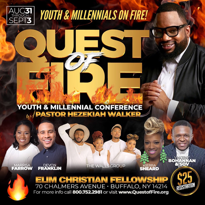 Quest of Fire Youth Conference with Pastor Hezekiah Walker