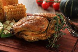 Grilled Herbs Marinade Chicken 香草焗雞配磨菇汁