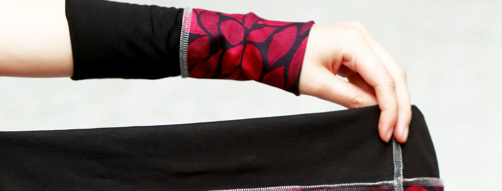 Armstulpen magenta pink leaves