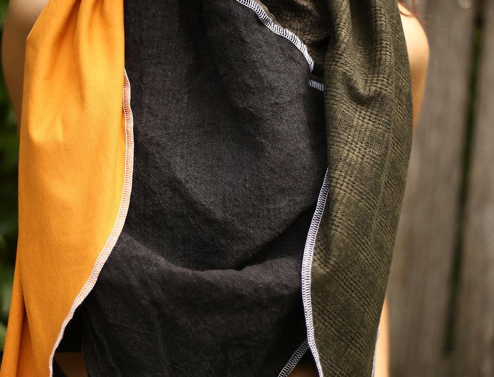Dreieckstuch yellow/black/green