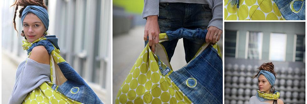 Tasche Patchwork Indigo