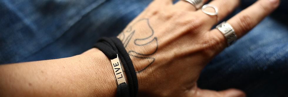 Armband LIVE schwarz