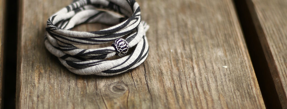 Armband schwarz / aluminium