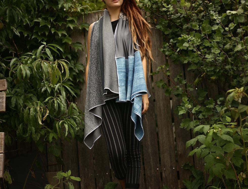 Wrap indigo / grey