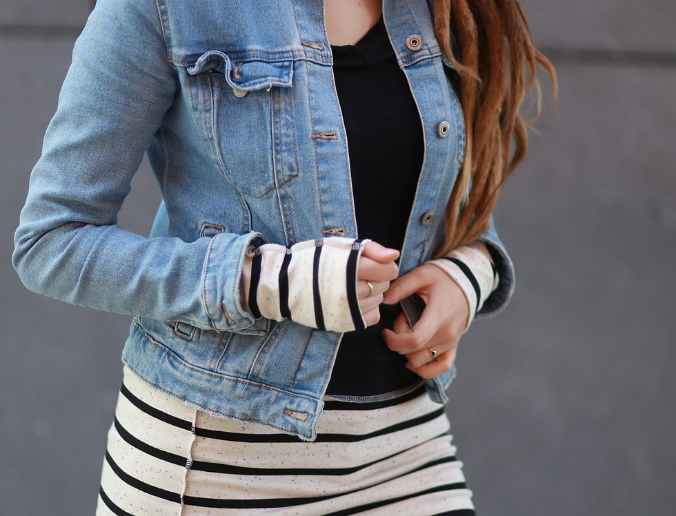 Hüftschal stripes