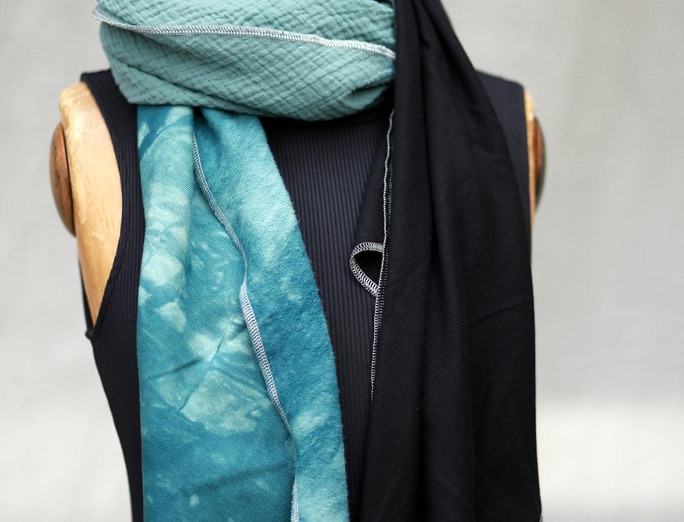 Schal batik petrol