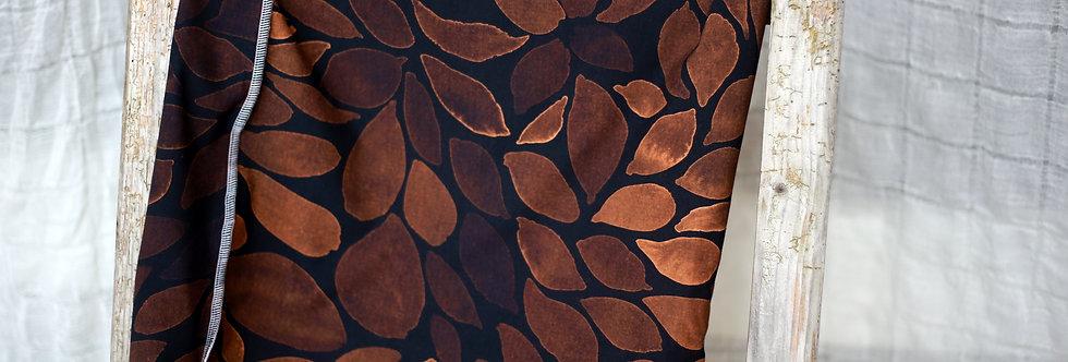 Hüftschal colour leaves sand