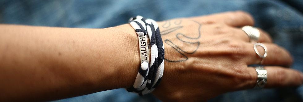 Armband LAUGH black&white