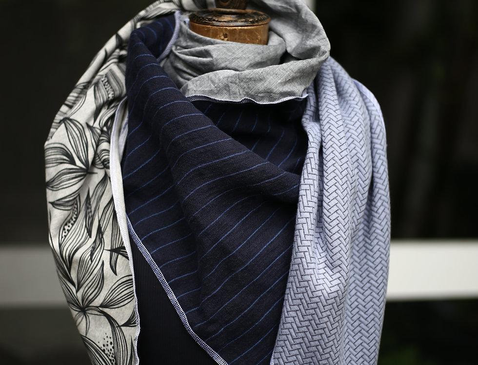 Dreieckstuch blue&grey