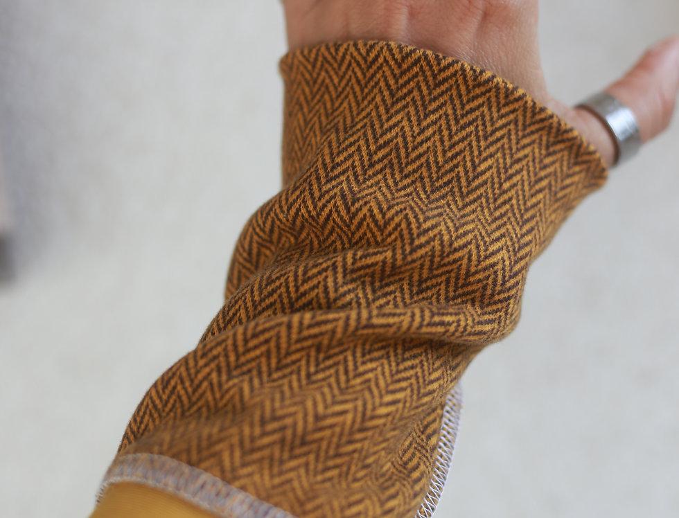 Armstulpen senf/gelb