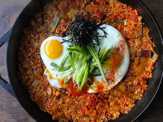 Kimchi and Bacon Fried Rice Not sure what to do with all that leftover rice? We've got your answ