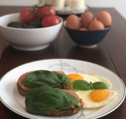 Avocado Tomato Toast with Eggs