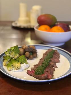 Strip Steak with Chimichurri