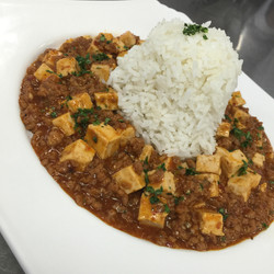 Mapo Tofu with White Rice