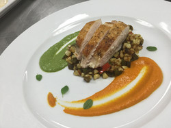 Sous Vide Chicken with Succotash