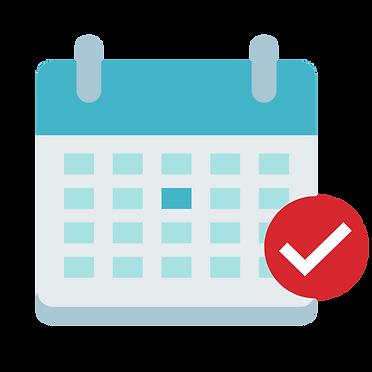 Calendar with checkmark