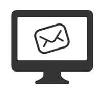 Computer Screen with Email Envelope