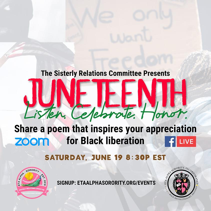 Juneteenth Poetry Night!