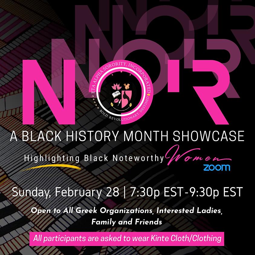NOIR: A Women's Black History Showcase Event