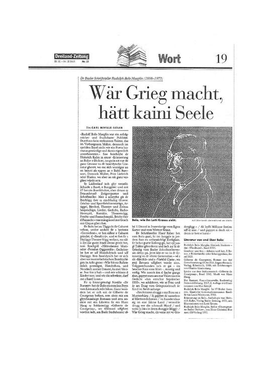 2001 Dreiland-Zeitung-Erinnerung an Bolo-Text von Carl Miville-Seiler
