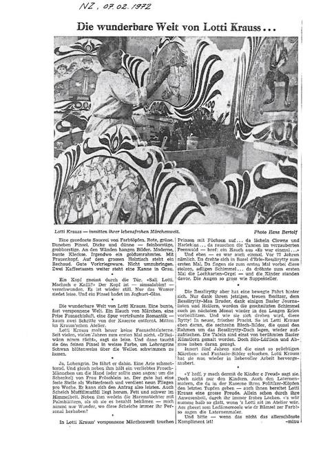 1972 NZ Atelierbesuch von minu