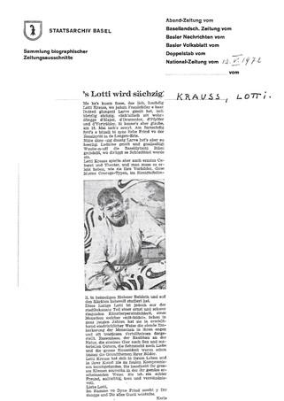 1972 NZ 60 Geburtstag