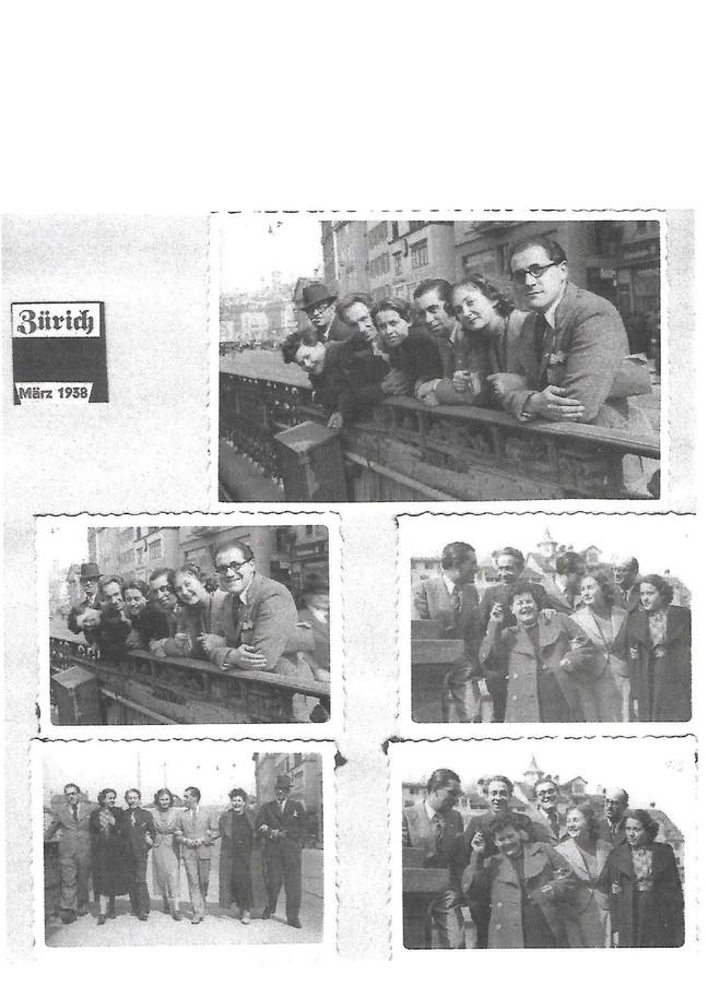 1938 Resslirytti-Fotos vom Ensemble in Zürich