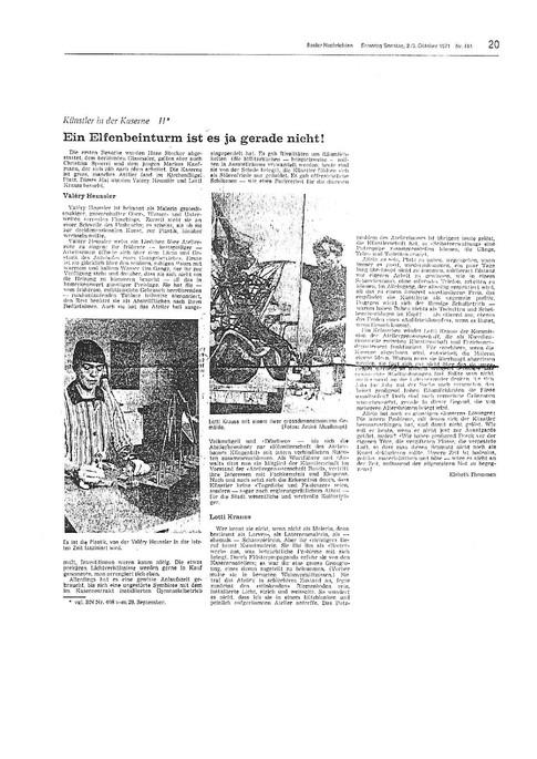 1971 BN Künstler in der Kaserne