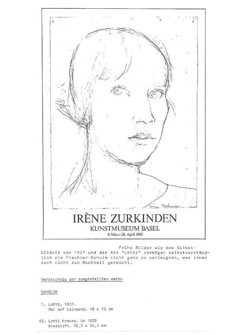 1985 Bilder von Irené Zurkinden mit Lotti Krauss